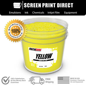 Yellow Screen Printing Plastisol Ink Low Temp Cure 270f Gallon 128oz