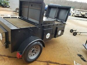 Hog Pig Lamb Fish Roaster Grill Chicken Flipper Bbq Smoker Trailer Food Truck