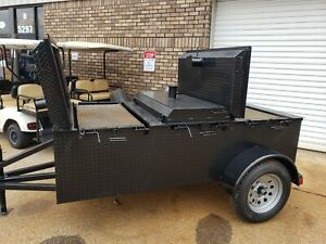 Hog Roaster Chicken Flipper Meat Grill Bbq Smoker Trailer Food Truck Business