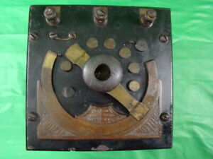 Antique Electric Motor Fan Rheostat Control 1890 Edison Era Direct Current Early