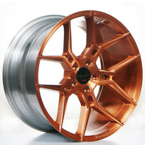 4 20 Staggered Giovanna Wheels Haleb Brushed Copper Rims custom Color b1