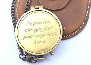Vintage Compass Engraved W So You Can Always Find Your Way Back Home Gift