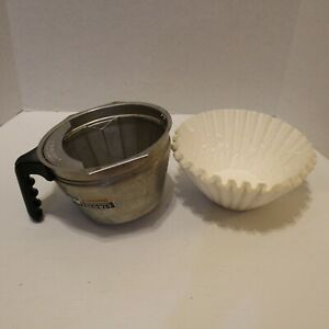 Bunn Smart Funnel Coffee Filter Holder Filters Splashgard 32643 0000 Stainless