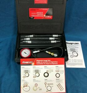Snap On Tools Eepv503 Motorcycle Compression Tester Gauge Set Free Shipping