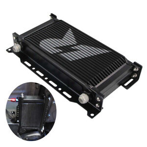 19 Row An10 Engine 248mm Mounting Oil Cooler Kit Radiator Mocal Style Black