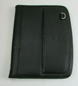 Leed s Leather Black Portfolio Notebook Organizer b 1