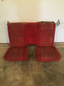 1978 1981 Pontiac Trans Am Formula Firebird Custom Red Rear Lower Seat Seats