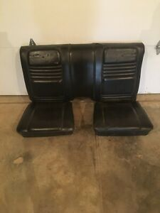 1978 1981 Pontiac Trans Am Formula Firebird Custom Black Rear Lower Seat Seats