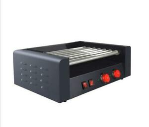 Commercial Electric 18 Hot Dog 7 Roller Grill Cooker Machine 1350watt Hu