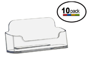 Clear Acrylic Plastic Business Card Holders Deflecto Rounded Edge Lot Of 10