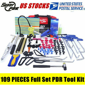 109x Pdr Kit Tools Pdr Paintless Dent Repair Kit Pdr Hail Dent Puller Rods Kits
