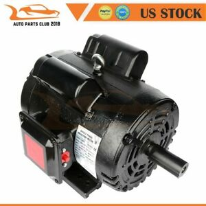 Air Compressor Electric Motor 3 Hp 184t Frame 1750 Rpm 4pole Single Phase Cw ccw