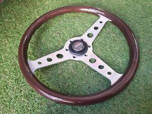 Rare Vintage Momo Super Indy 1984 Wood Steering Wheel Toyota Mazda Benz Bmw