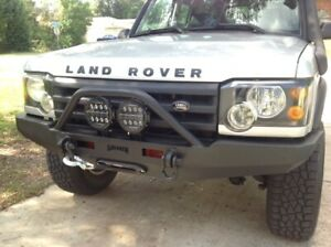 Land Rover Discovery Ii Front Steel Winch Custom Bumper With Bullbar