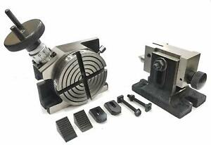 4 rotary Milling Indexing Table With Suitable Tailstock M6 Clamp Kit