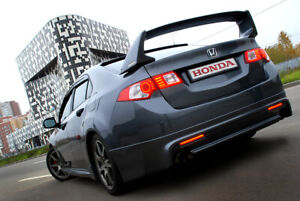 Rear Wing Composite Spoiler Mugen Style For Honda Accord 8 Acura Tsx 2008 2014