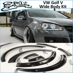Vw Golf 5 Fender Flares Set Golf Mk5 Wide Body Kit 30mm 8 Pcs Set Gti R32