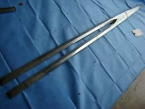 1957 Pontiac Chrome Trim Left Front Fender Stainless Nos 534706