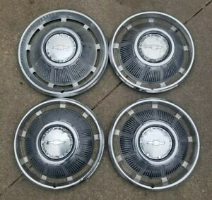 69 1969 Chevy Impala Caprice Hubcaps 14 Inch Set 4 Chevrolet Wheel Covers Car Gm