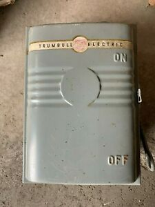 Vintage Trumbull Type A Style Hci Safety Disconnect Switch 30a 600v 3p Cat 60361