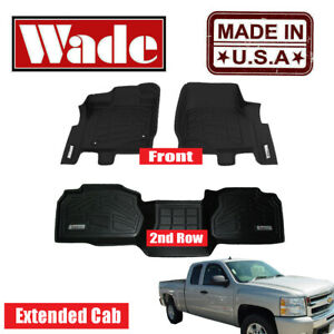 Chevy Silverado Extended Cab Floor Mats Fits 2007 2013