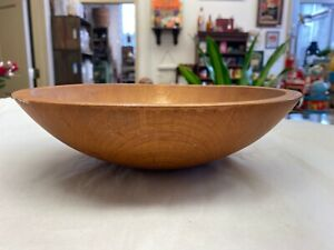 Vintage 11 By 10 Inch Wooden Dough Bowl