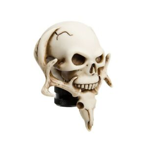 Carved Skull Head Car Gear Manual Shift Knob Lever Shifter Boots Ivory White