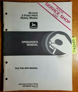 John Deere 50 Inch 3 Point Hitch Rotary Mower Owner Operator Manual Om m86482