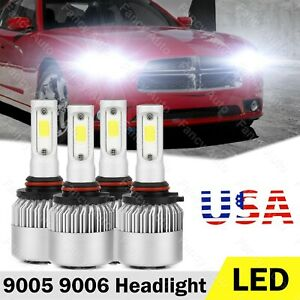 For Dodge Charger 2006 2010 High Power Led Headlight Bulbs Hi Lo Beam 9005 9006