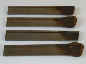 3 New 1 Used Acme Grooving Tool Carbide Cut Off Parting Blade 1 4 X 7 8 X 6