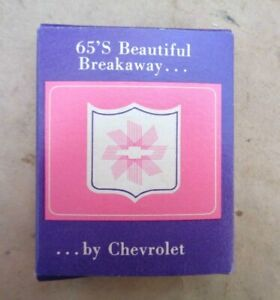 1965 Chevy Prince Matchabelli Perfume Original Dealer Promo Wind Song
