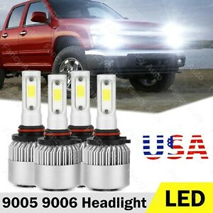 For 2004 2012 Chevy Colorado Gmc Canyon Led Headlight Bulb High Low Beam Kit