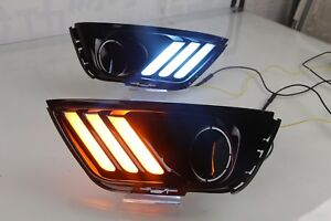 White yellow ice Blue Led Daytime Day Fog Light Drl Run Lamp For Jeep Compass