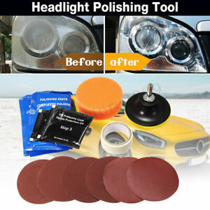 Pro Car Headlight Lens Restoration Repair Kit Polishing Cleaner Cleaning Tool