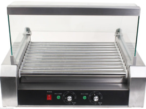 Hotdog Roller Machine Commercial Hot Dog Cooker Grill Make Cover Stainless Steel