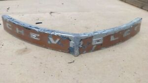 1941 Chevy Upper Grille Script Molding Original Gm Special Master Deluxe Top