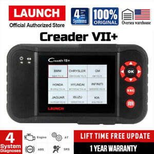 Launch X431 Creader Vii Obd2 Diagnostic Scanner Engine At Abs Airbag Reset Tool