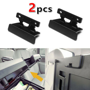 2 For 07 14 Chevry Silverado Tahoe Black Center Console Armrest Lid Latch Lock