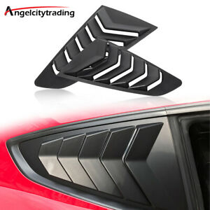 1 4 Side Window Louvers Sun Shade Shield Lambo Style Fit 2015 2020 Ford Mustang