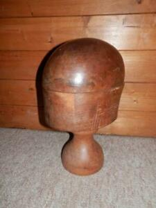 Antique Millinery Hatters Wooden Hat Block Window Display Size 6 3 4 55cm