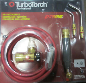 0386 0335 Turbotorch Extreme X 3b Acetylene Air fuel B Torch Kit