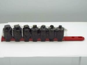 Matco Tools Scp84v 1 2 in Drive 7 piece Pipe Plug Impact Socket Set