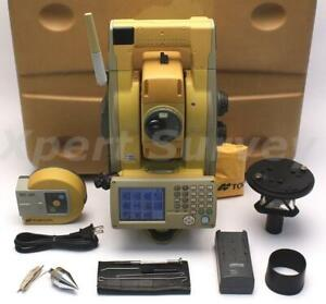 Topcon Gpt 9003a 3 Robotic Total Station W Rc 3r Controller A7 Prism Gpt9003