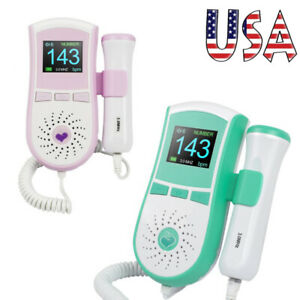 2 Colors Color Lcd Fetal Doppler 3mhz Probe Baby Heart Monitor High Accuracy Ce