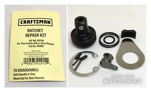 Craftsman Ratchet Repair 48748 Thin Profile Quick Release Asia Ratchets 44995