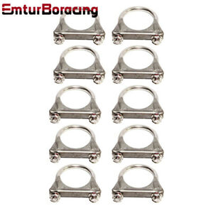 Emusa 10pcs 2 id Exhaust Tail Pipe Ss T201 U Bolt Clamp Heavy Duty