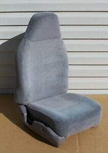 92 96 Ford F150 F250 Bronco 97 F350 Right Front Seat Gray Cloth Very Clean Oem