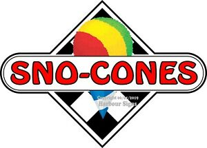 choose Your Size Sno cones Decal Checker Food Truck Concession Vinyl Sticker