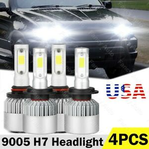For 2001 2003 Bmw X5 Projector Headlights Led Light High Low Beam Bulb Kit 4pcs