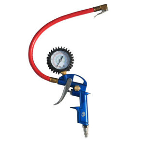 150 Psi Dial Gauge Car Bicycle Motor Tire Inflator With Hose And Air Chuck